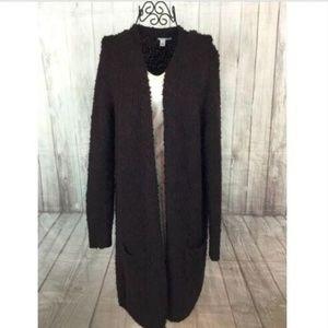 Halogen Women's Wine Long Cardigan Sweater Open M